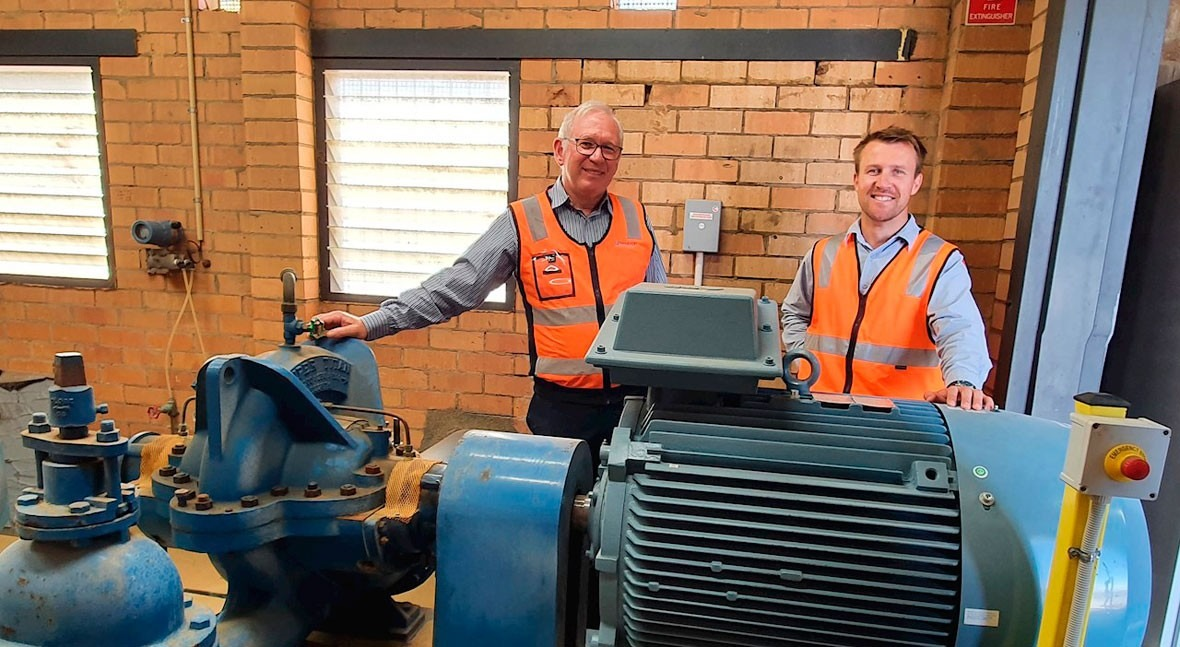 ABB's drive and motor improve efficiency and solve disturbances in AlburyCity Council water plant