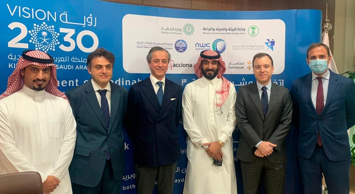ACCIONA to build and operate three sewage treatment plants in Saudi Arabia for €855 Million