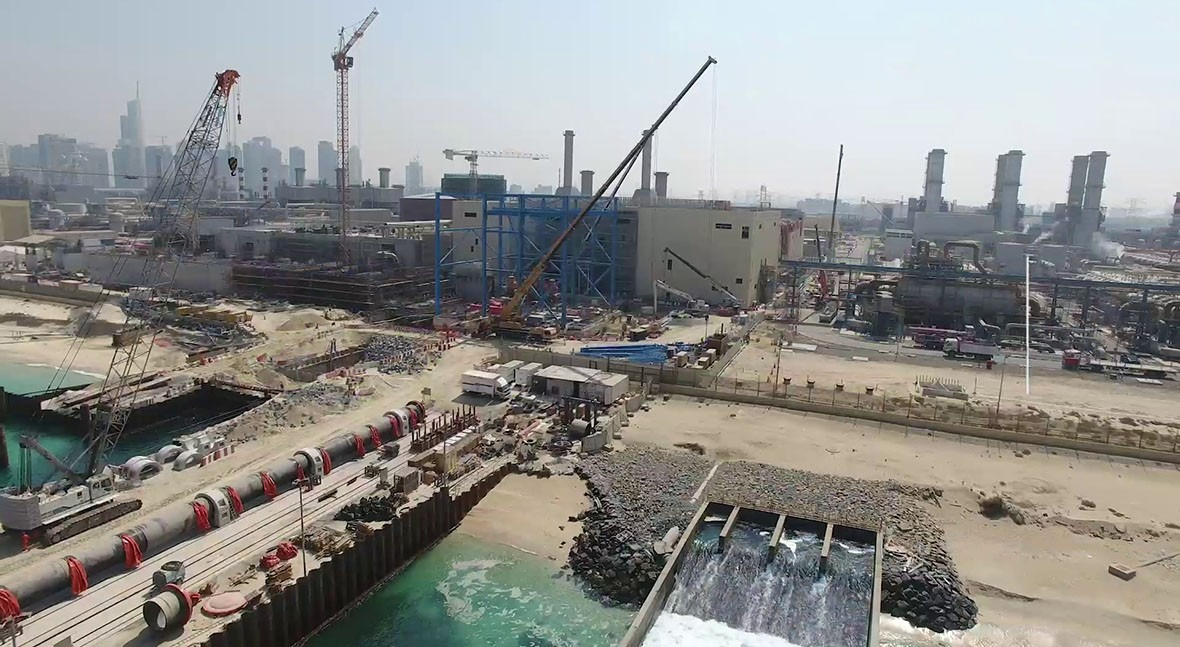 ACCIONA produces first cubic meter of potable water at Jebel Ali desalination plant in Dubai, UAE