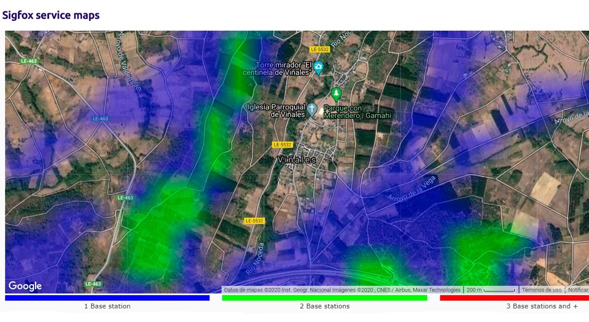Telemetry in rural municipalities in the Bierzo region (north-western Spain)