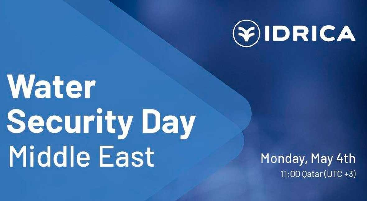 Idrica Water Security Day Middle East will take place on May 4