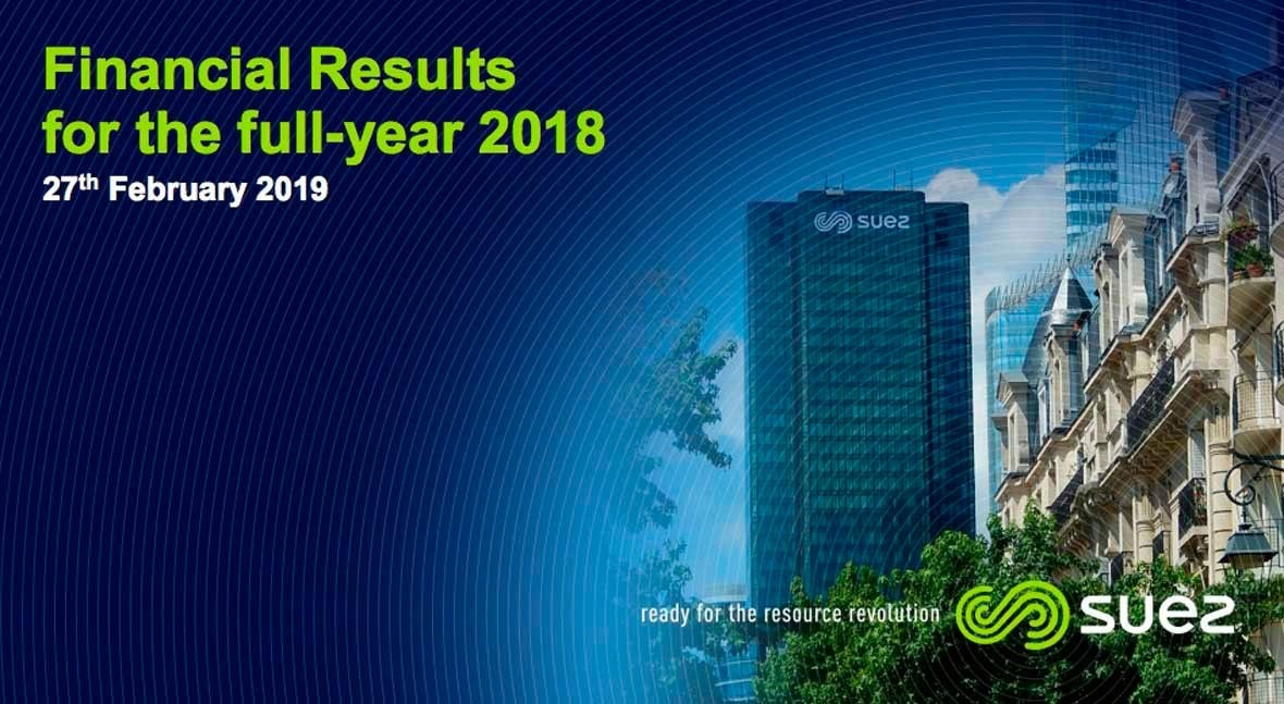 10 key facts about SUEZ's good results in 2018