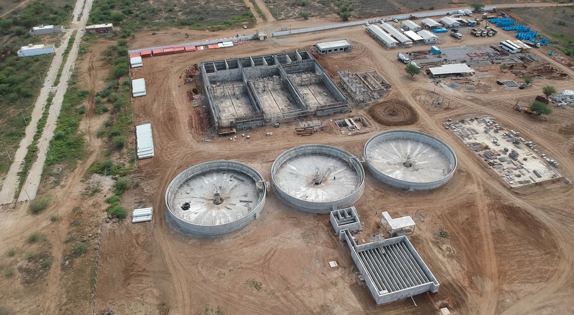 Santa Cruz do Capibaribe, Brazil wastewater treatment system 90% complete