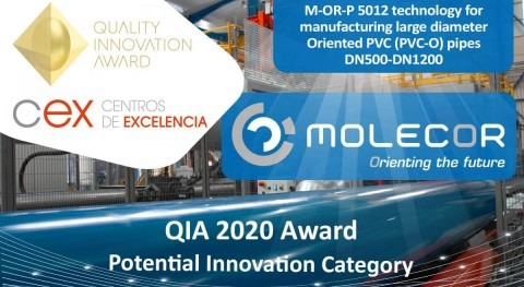Molecor awarded in the Potential Innovation Category of the 2020 QIA Awards