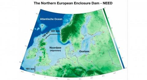 dam right across the North Sea