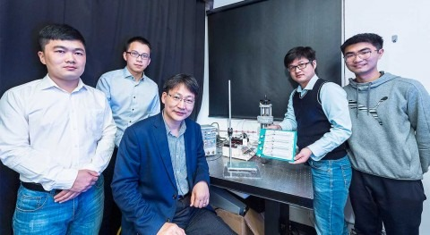 New droplet-based electricity generator: drop of water lights up 100 small LED bulbs