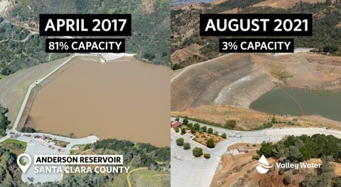 California's Valley Water reservoirs reach historical lows