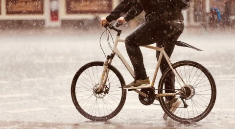 Where in the world are cyclists most likely to brave the rain and cold?