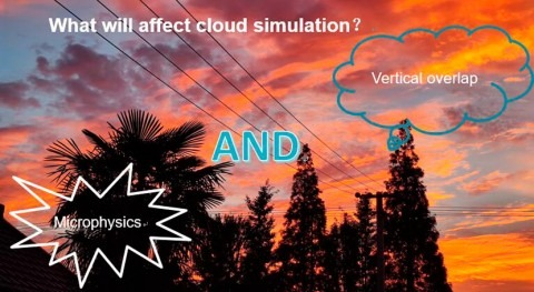 What variables affect cloud simulation in global climate models?