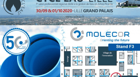 "Molecor will be present at the Salon ""Cycl'eau Lille 2020"""