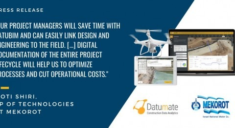 Datumate selected by Mekorot for monitoring construction process