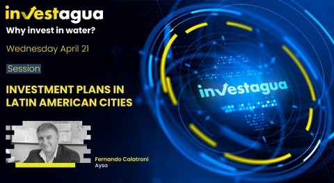 "Fernando Calatroni says at INVESTAGUA that AySA needs to invest $16 bn in ""megaprojects"""