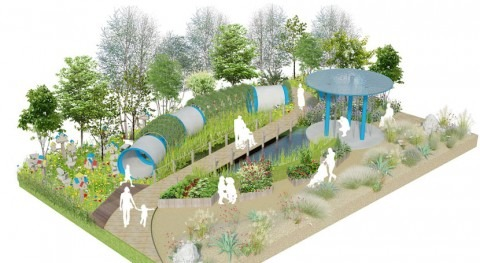 Climate change-resilient garden designed for flourishing future