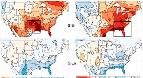 Loss of Arctic sea ice stokes summer heat waves in southern U.S.
