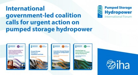 International government-led coalition calls for urgent action on pumped storage hydropower