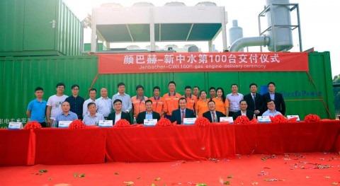 INNIO hits milestone installation of more than 100 jenbachers for China Water
