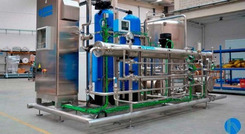 Water treatment line for cans cleaning in the drinking sector
