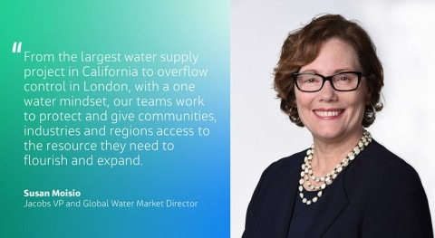 Susan Moisio named Jacobs Global Vice President and Water Market Director