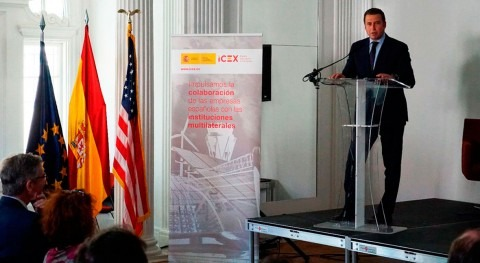 Carlos Cosín, CEO of Almar Water Solutions, participates in an event organized by ICEX
