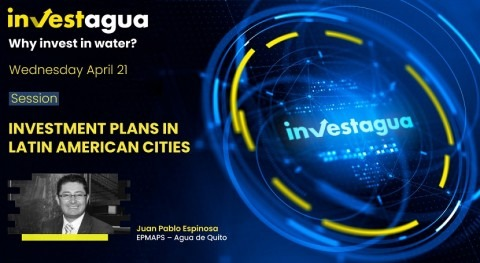 "Juan Pablo Espinosa at INVESTAGUA: ""Quito needs $900 million to clean up its rivers"""