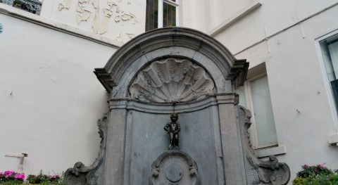 Manneken Pis has been wasting drinking water, but no longer