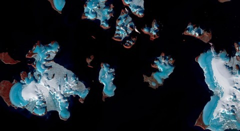 Melting glaciers causing sea levels to rise at ever greater rates