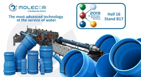 Molecor's exclusive technology and products will be present at K2019 in Düsseldorf