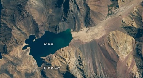 Drought in Chile drying up reservoir