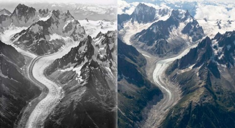 New aerial photographs shed light on dark days for Mont Blanc