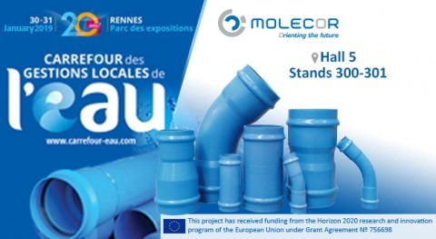 "Molecor will be present at the ""20e Carrefour des Gestions Locales l'Eau"""