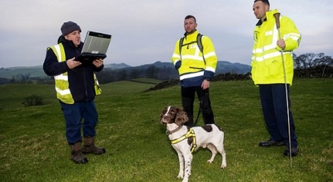 Scottish Water uses sniffer dogs to detect leakage