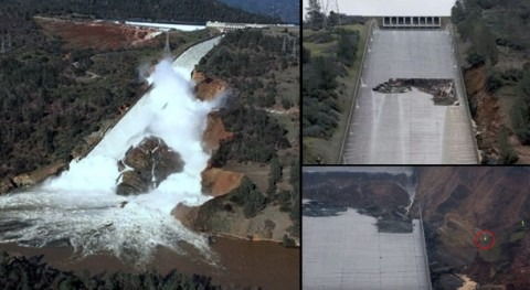 Oroville Dam quakes related to spillway discharge