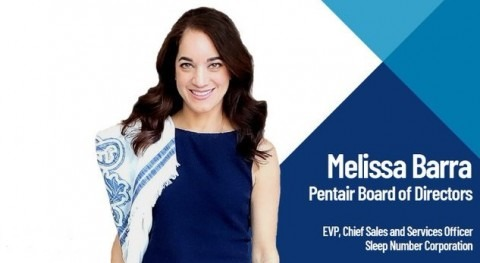 Pentair appoints Melissa Barra to Board of Directors