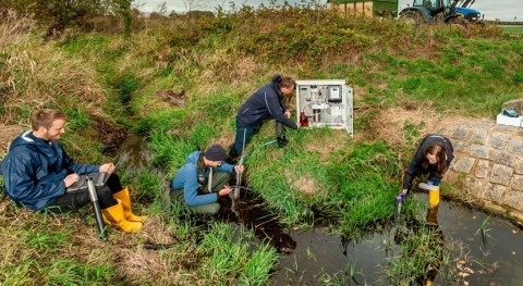 Small streams in agricultural ecosystems are heavily polluted with pesticides