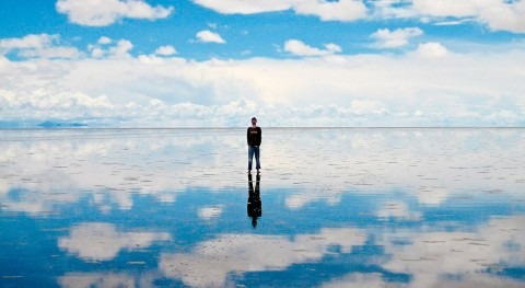 The Uyuni salt flats, the world's mirror