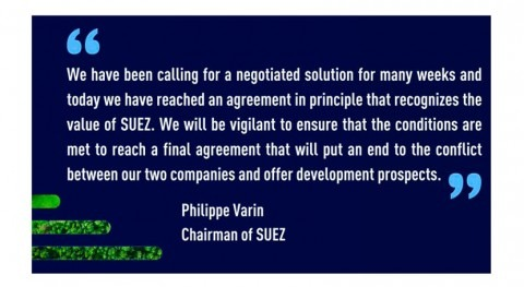 Veolia and Suez reach an agreement to merge the two groups