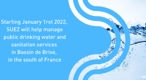 Bassin Brive (France) entrusts SUEZ with its public drinking water and sanitation services