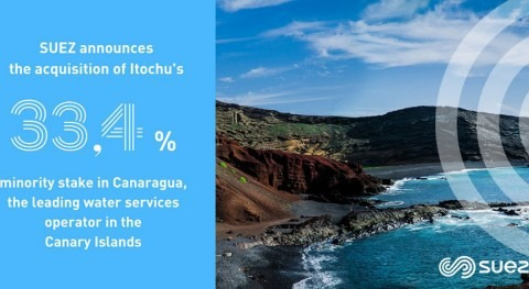 SUEZ acquires Itochu Group's 33.4% minority stake in Canaragua, Spain