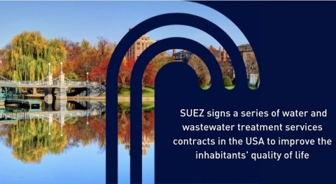 SUEZ wins water and wastewater services contracts in the U.S. for total revenues of €188 million