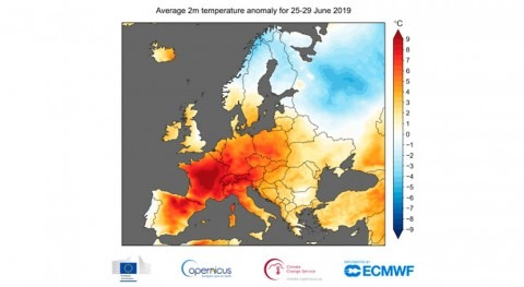 Temperature records fall in European heatwave