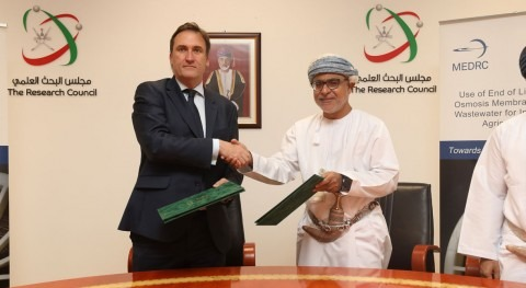 The Research Council and MEDRC sign 2 year water research project