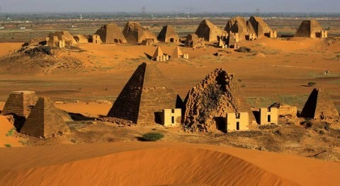 Record floods threaten pyramid sites in Sudan