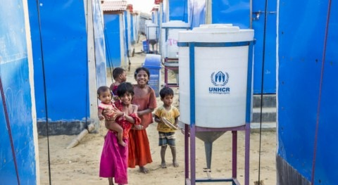 Innovation, green tech and sunlight help secure safe water for Rohingya refugees