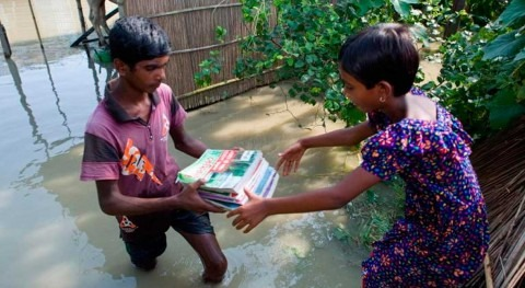 Millions of children affected by devastating flooding in South Asia