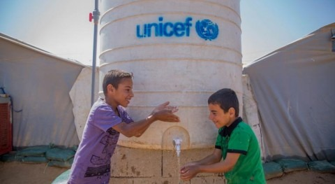 Unicef reports that dirty water is 20 times deadlier to children in conflict zones than bullets