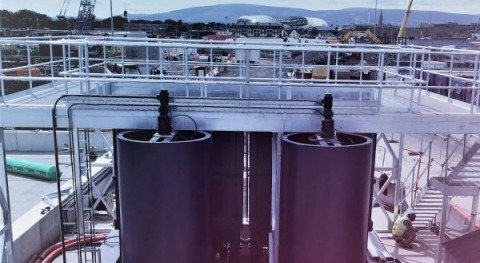 Brightwork products: temporary waste water treatment plant for Port of Dublin