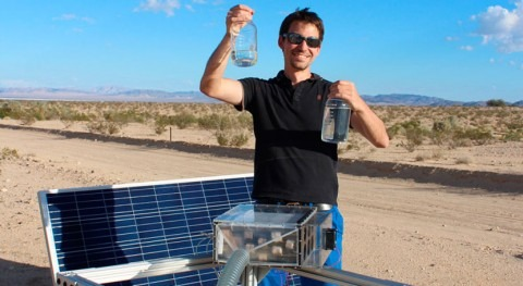 Water harvester makes it easy to quench your thirst in the desert