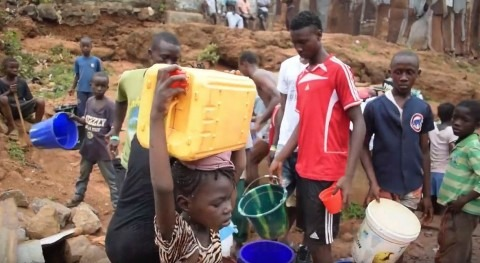 Water doesn't reach the hills of Freetown
