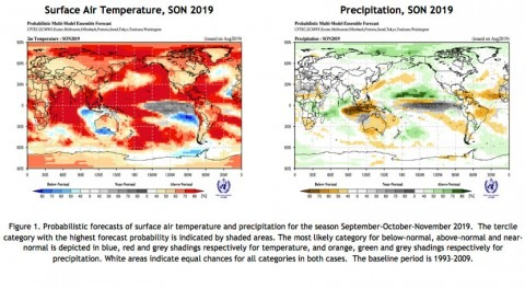 WMO seasonal update indicates above-average temperatures
