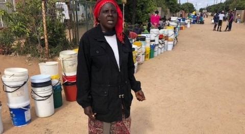 Families sleep in water lines as drought grips Zimbabwe's Bulawayo